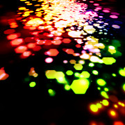 Disco Digital Art - Abstract Of Hexagon Shape Blur Background by Setsiri Silapasuwanchai