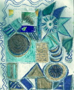 Clocks Drawings - Abstract on Braille Paper by Anne-Elizabeth Whiteway