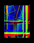 Heather Kirk Framed Prints - Abstract One Rectangular Vertical by Joyce White Framed Print by Heather Kirk