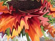 Kate Farrant - Abstract Orange Flower