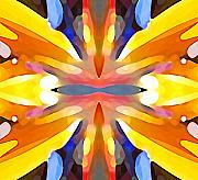 Bird Of Paradise Flower Digital Art - Abstract Paradise by Amy Vangsgard