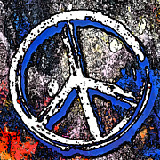 Peace Digital Art - Abstract Peace Sign by David G Paul