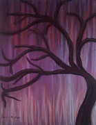 Organic Pastels Originals - Abstract Purple Tree by Dorneisha Batson