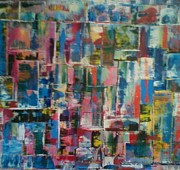 Robert Anderson Mixed Media - Abstract quilt 2 by Robert Anderson