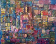 Robert Anderson Mixed Media Metal Prints - Abstract Quilt Metal Print by Robert Anderson
