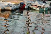 Dinghy Photos - Abstract Reflections by Suzanne Gaff