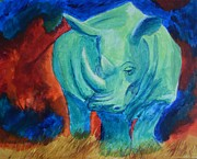 Brilliant Paintings - Abstract Rhino  by Harmony House
