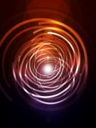 Light Digital Art Prints - Abstract Rings Print by Michael Tompsett