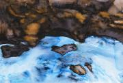 Peaceful Scene Paintings - Abstract River by Tara Thelen