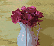 Pitcher Prints - Abstract Roses Print by Marsha Heiken