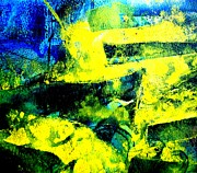 Monoprint Posters - Abstract Scape Poster by John  Nolan