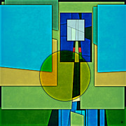 Layered Digital Art Framed Prints - Abstract Shapes Color Two Framed Print by Gary Grayson