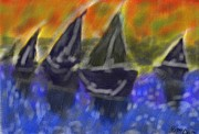 Lively Pastels - Abstract ship by Miu Dan Popa