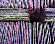 Colored Photos - Abstract Slate Pile by Meirion Matthias