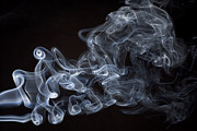 Cigarette Prints - Abstract smoke running horse Print by Setsiri Silapasuwanchai