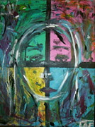 Lee Farley Metal Prints - Abstract sorrow Metal Print by Lee Farley