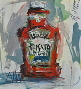 Ketchup Paintings - Abstract Still Life Painting by Robert Joyner