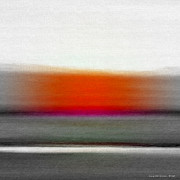Sunset Posters Mixed Media Posters - Abstract Sunset 669 Poster by Gina De Gorna