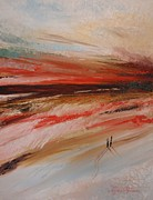 Pallet Knife Prints - Abstract sunset II Print by Tatjana Popovska
