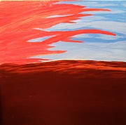 Red Sky Paintings - Abstract Sunset by Tyler Martin