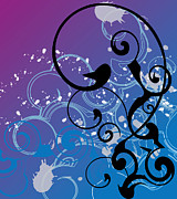 Featured Digital Art Posters - Abstract Swirl Poster by Mellisa Ward