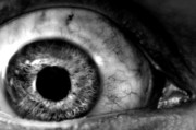 Dismay Photos - Abstract terror Eyeball Closeup by Evan Sharboneau