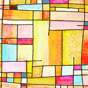 Abstract Geometric Art Prints - Abstract Town Print by Setsiri Silapasuwanchai