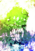 Landscape Art - Abstract Trees In The Everglades by Arline Wagner