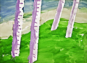 Susan Leggett Prints - Abstract Trees Print by Susan Leggett
