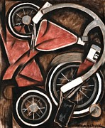 Collage Framed Prints - Abstract Tricycle  Framed Print by Tommervik