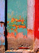 Michael Metal Prints - Abstract Wall by Michael Fitzpatrick Metal Print by Olden Mexico