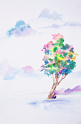 Water Colour Drawings - Abstract watercolor hand painted background by Nutdanai Apikhomboonwaroot