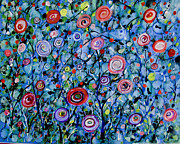 Sue Holman - Abstract Wildflowers