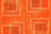 Abstract Window On Orange Wall Print by Silvia Ganora