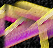 John Digital Art - Abstract with a Black Background by John Krakora
