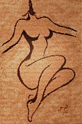 Abstract Woman Nude 2 Print by Georgeta  Blanaru