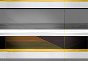 Dwell Metal Prints - Abstract Yellow and Grey  Metal Print by Irina  March