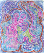 Spirals Pastels Posters - Abstraction  Poster by Jessika and Art with a Heart In Healthcare