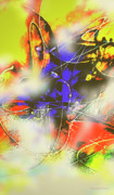 Moderno Digital Art Prints - Abstrato Zzzm Print by Fernando Antonio