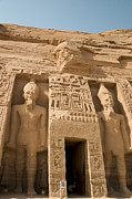 Egyptology Posters - Abu Simbel Temple Poster by Darcy Michaelchuk