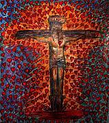 Jesus Drawings Prints - Abundant Love Print by Richard  Hubal