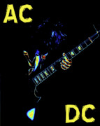 Concert Digital Art - AC DC Rocks by Ben Upham