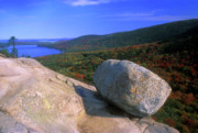 Jordan Photos - Acadia Bubble Rock by John Burk