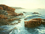 Ledge Prints - Acadia Coast Print by Elaine Farmer