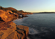 New England Acrylic Prints - Acadia Granite Seacoast at Sunrise by Juergen Roth
