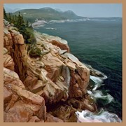 Down East Painting Framed Prints - Acadia Shoreline 2 Framed Print by Earl Jackson