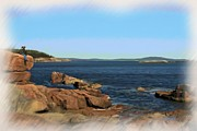 Maine Seacoast Paintings - Acadia Shoreline by Earl Jackson