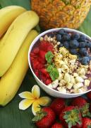 Brandon Tabiolo Prints - Acai bowl and Fruit Print by Brandon Tabiolo - Printscapes