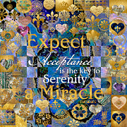 Affirmation Posters - Acceptance is the Key Poster by Susan Ragsdale