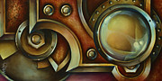 Rivets Painting Framed Prints - Access Denied Framed Print by Michael Lang